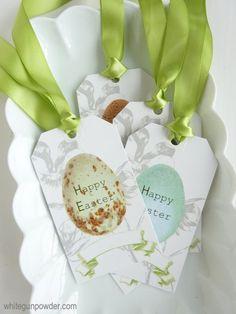 Easter egg gift tags & mini cards - White Gunpowder