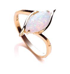 9ct Gold Marquise Cut Opal Dress Ring. #opalsaustralia