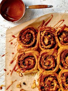 Apple and cinnamon Chelsea buns recipe from B.I.Y. Bake It Yourself | Cooked