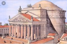 The Pantheon Rome Architecture Antique, Architecture Concept Drawings, Classical Architecture, Historical Architecture, Art And Architecture, In Ancient Times, Ancient Rome, Ancient History, Architecture Romaine