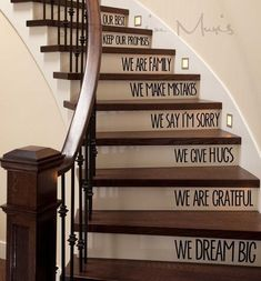 In This Home We Love - Stairs Decal #DIYAtticRemodel #Homeimprovement