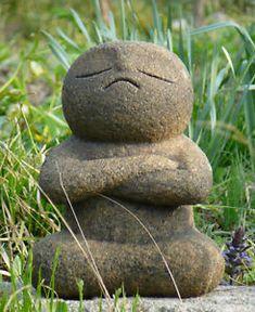 Japan-Collection-Healing-Ksitigarbha-made-of-Granite-JIZO-H-23-cm