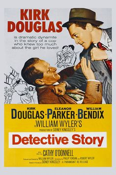 Detective Story is a 1951 film noir which tells the story of one day in the lives of the various people who populate a police detective squad. It features Kirk Douglas, Eleanor Parker, William Bendix, Cathy O'Donnell, and George Macready. Both Lee Grant and Joseph Wiseman perform in their film debuts. The movie was adapted by Robert Wyler and Philip Yordan from the 1949 play of the same name by Sidney Kingsley. Nominated for four Academy Awards, it was directed by William Wyler.