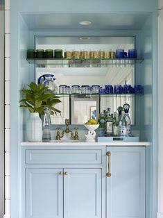 Wet Bar Cabinets, Blue Cabinets, Bar Cabinets For Home, Bar Furniture, Kitchen Furniture, Furniture Companies, Cheap Furniture, Villa, Guest Suite