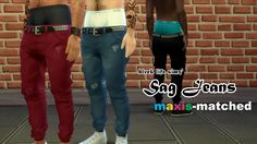 Sims 4 CC's - The Best: Jeans for Men by Lost my ◊ in your pond