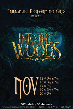 Starting Saturday, head #IntoTheWoods with #Immanuel Performing Arts! You won't want to miss this! See flyer for details.