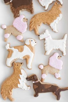 Puppy Party with DIY Birthday Party Decorations dog cut-out cookies Dog Themed Parties, Puppy Birthday Parties, Puppy Party, Dog Birthday, Birthday Cookies, 50th Birthday Party Decorations, Dog Cookies, Sugar Cookies, Animal Party