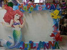 Yh 1st Birthday Princess, Mermaid Theme Birthday, Little Mermaid Birthday, Little Mermaid Parties, Ariel The Little Mermaid, Dance Decorations, Birthday Party Decorations, 1st Birthday Parties, Party Themes