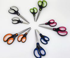 🌈 New product alert 🌈  4 different sized scissors, ideal for everyday use. The new range have soft grip handles which are suitable for all cutting requirements and ages. Available in a choice of 5 colours, so there's a perfect set for everyone!