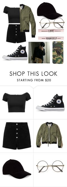 """my style."" by rijoonah on Polyvore featuring Alice + Olivia, Converse, rag & bone/JEAN e Hollister Co."