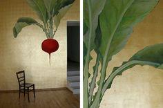 Mural on Gold Leaf   Atelier Wandlungen