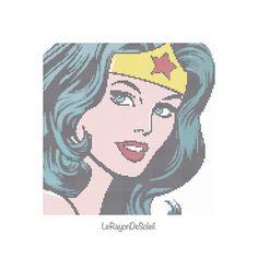 Pop Wonder Woman Modern cross stitch pattern - instant download PDF - Clothes…