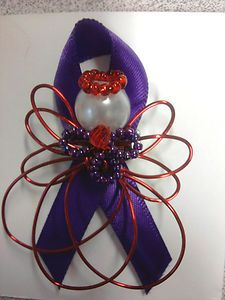 Handcrafted Angel Pin Red Hat Society USA FREE SHIP | eBay