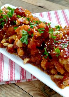 If Cashew Chicken is a dish you love to eat, then you will love this cauliflower version. It's light and healthy, delicious and extremely flavourful. You might want to double this recipe. :)