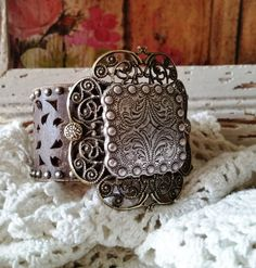 SqUaRe Silver Concho Filigree Brown Leather Cuff Bracelet>> #Native #Southwestern #BohemianChic #Rustic #Romantic #Country #Bold #Gypsy by BellaNotteDesigns on Etsy https://www.etsy.com/listing/264094206/square-silver-concho-filigree-brown