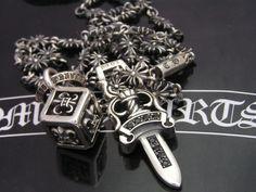 CHROME HEARTS Gothic Jewelry, Men's Jewelry, Jewlery, Jewelry Design, Jewelry Making, Cool Mens Bracelets, Biker Accessories, Chrome Hearts, Cover Art