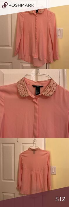 Shirt H and m pink shirt. Like new H&M Tops Blouses