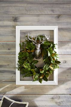 Beautiful Christmas Decorations. I love this natural Green Christmas Wreath.