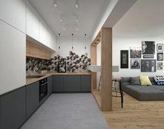 Aranżacje wnętrz - Salon: Mieszkanie - 40 m2 - Mały salon z bibiloteczką z kuchnią z jadalnią, styl skandynawski - BIG IDEA studio projektowe. Przeglądaj, dodawaj i zapisuj najlepsze zdjęcia, pomysły i inspiracje designerskie. W bazie mamy już prawie milion fotografii!