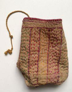 Original vintage Banjara embroidered pouch by TextilesNotToForget