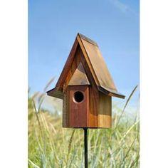 Mahogany Chateau Bird House in Solid Mahogany Wood, Brown Bird House Plans, Bird House Kits, Decorative Bird Houses, Bird Houses Diy, Mini Houses, Bird House Feeder, Bird Feeders, Copper Roof, Bird Aviary