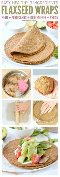 Flaxseed wraps Keto + Vegan + Gluten free