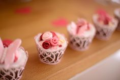 Rose cupcake from a Butterfly Garden Party on Kara's Party Ideas | KarasPartyIdeas.com (10)