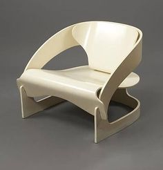 artnet Galleries: Chair for Kartell by Joe Colombo from Frank Rogin Inc. Classic Furniture, Unique Furniture, Cheap Furniture, Vintage Furniture, Plywood Furniture, Discount Furniture, Furniture Making, Design Furniture, Chair Design