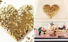 This DIY heart will add sparkle to any room.