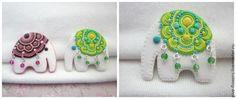 Polymer Clay Elephant Pin Tutorial - Лепим прелестного слоника с попоной - Ярмарка Мастеров - ручная работа, handmade