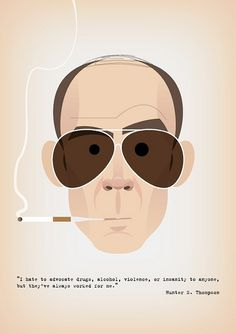 Hunter S. Thompson by Stan Chow, via Flickr