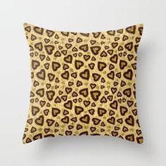 Leopard Heart 01 Throw Pillow