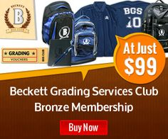Incredible Savings on Beckett Grading Services