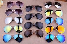 MIX Colors Free Shipping 2017 Sale  Designer Blue Mirrored Sunglasses Men Silver Mirror Vintage Sunglasses Women Glasses Hot