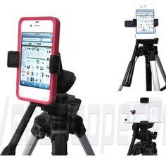 Apple iPhone 5 4S LG Google Nexus 4 Video Camera Tripod Monopod Adapter Mount | eBay