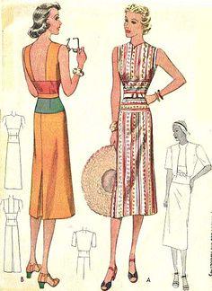McCall 9590 | 1938 Ladies' & Misses' Sports Dress & Jacket