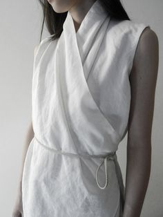 like linen but consider a crepe-ier fabric, like the leather braided belt