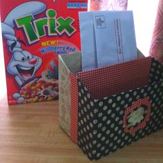 Re-use cereal boxes! From frugalfamilyfunblog.com