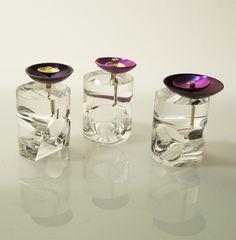 "Francesca Gabrielli - ""Transparency"" rings - plexiglass, titanium, gold, diamond - 2011"