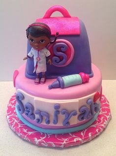 Doc McStuffins Cake | Flickr - Photo Sharing! Maybe for 4?