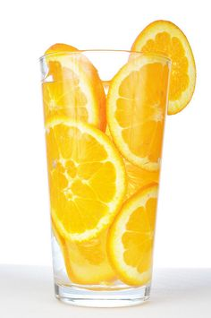 <3 put sliced oranges inside of glass and fill it up wit ur fav juice or cocktail