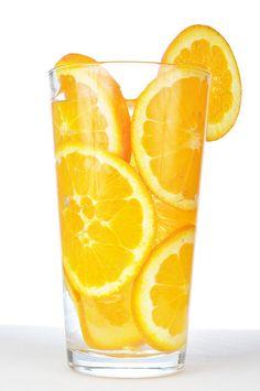 <3 put sliced oranges inside of glass and fill it up wit ur fav juice or cocktail