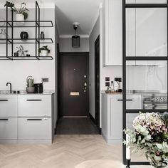 Why we all Love Scandinavian Style (Kitchen) Design Condo Interior, Kitchen Interior, Kitchen Design, Interior Design, Tiny Spaces, Small Apartments, Condo Design, House Design, Tiny Living Rooms