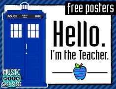FREE Doctor Who-inspired Teacher Posters!