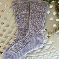 Ravelry: knitterRaine's Twisted Flower Socks