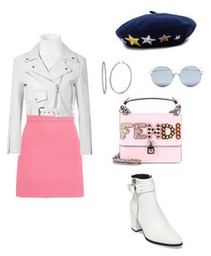 White & pink 💕 by diana-jevcakova on Polyvore featuring polyvore fashion style Calvin Klein 205W39NYC Gucci Steve Madden Fendi BERRICLE Hat Attack For Art's Sake clothing