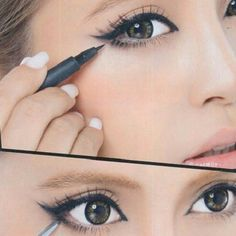 perfect winged liner #howto #makeuptips #makeup #diy #l4l #followforfollow #cate   We Know How To Do It