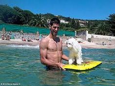 Novak Djokovic & Pierre - very happy to discover that D-jok is a poodle man! Celebrity Dogs, Tea Cup Poodle, Fuzzy Wuzzy, Sport Tennis, Tennis Players, Haha, Celebrities, Celebs, Pets