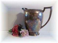 Water Pitcher Berwick WM A Rogers Water Pitcher by UpstairsAttic, $23.25