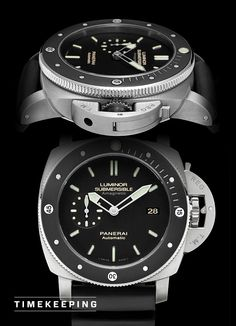 Panerai Luminor Submersible 1950 Amagnetic 3 Days Automatic Titanio (PAM 389)